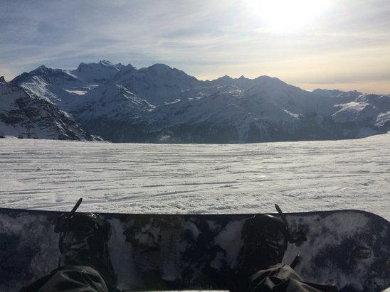 Verbier - Pas assez de neige , par fois trop de monde sur les pistes. - © iPhone de Alejandro