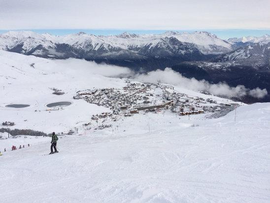 La Toussuire - La neige est arrivée sur #LesSybelles #LaToussuire ❄️⛄️ - © iPHONE JC 5S