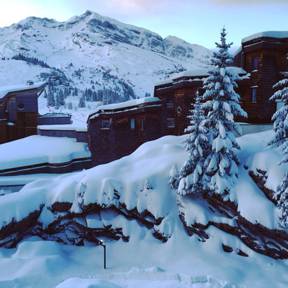 Avoriaz - Great fresh snow falling in Avoriaz now - ©matt  cant's iPhone 6