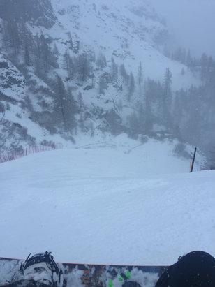 Gressoney-La-Trinité - Monterosa Ski - Nevica da tutto il giorno neve bella fresca - © iPhone di Manuel