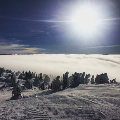 Big White - Poor visibility below, what a stunner up top tho!!