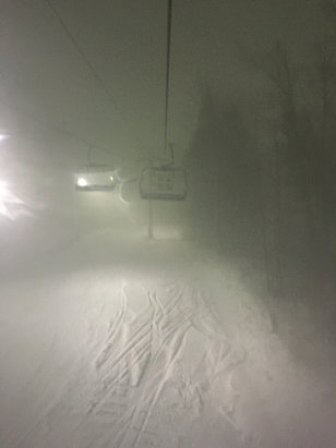 Greek Peak - Squalls dropped a few inches quick for some decent night skiing - © Lookin for Pow