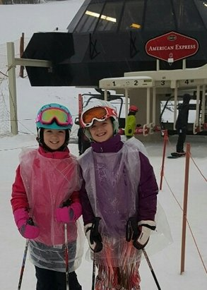 Stratton Mountain - Sunday, Jan 10, 2016: Pouring rain, but the snow was terrific. I wish they ran the Gondi, but they were probably saving money. - ©Suzy C.
