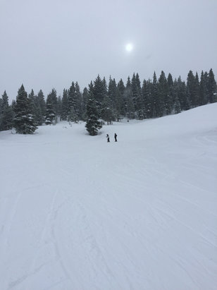 Crested Butte Mountain Resort - Snow is perfect at CB both bottom and top of mountain.  Haven't seen a bad run yet.  If you are EX or double black snob then you might have a few closed runs.  It's perfect here right now! - © BG's iPhone