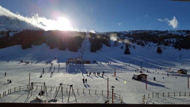 Superdevoluy / La Joue du Loup - Quelques pistes ouvertes mais neige pas terrible  Hors piste impraticable  - © Jules