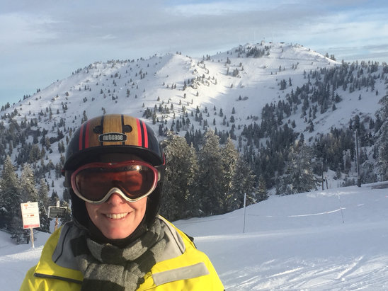 Bogus Basin - Snow is holding up so good on both sides of the hill. Groomers are smooth and off trail is soft. More coming this week. - © T-Bone Phone