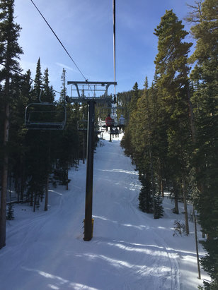 Eldora Mountain Resort - Mix of conditions, but hard to complain about a sunny day without wind! - © jason's iPhone