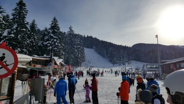 Borovets - Only on the beginners slopes but great days skiing in Borovets - © Will