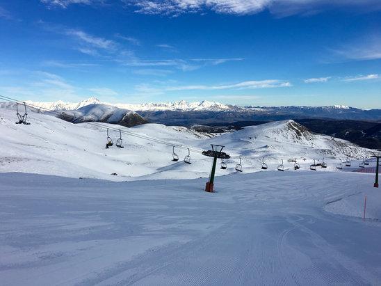Ovindoli - Buona neve,e piste quasi tutte aperte,l'unico peccato è il pistone chiuso!  - © iPhone di Roberto