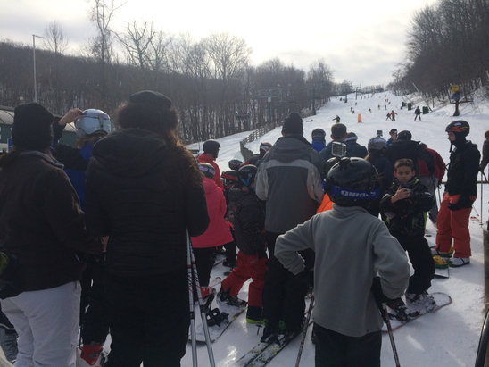 Wintergreen Resort - Good conditions. A bit crowded. Good day.  - © Andrew's iPhone