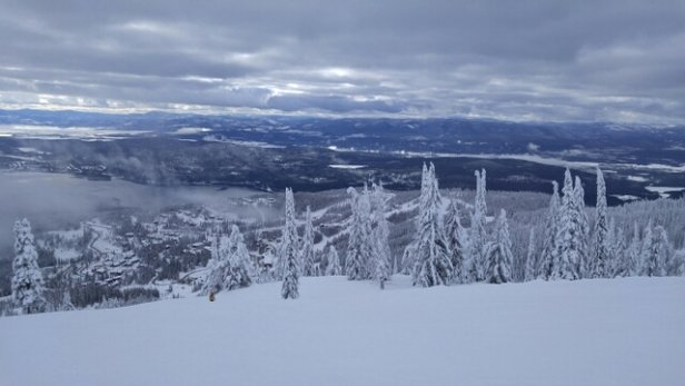 Whitefish Mountain Resort - not a lot of tracks this morning. tree skiing is still decent. nice groomed runs. good visibility - © Mark T