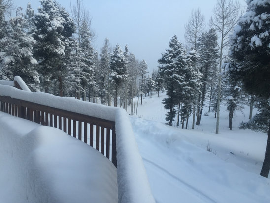 Angel Fire Resort - A foot of fresh last night  - © Christopher Dickson's iP