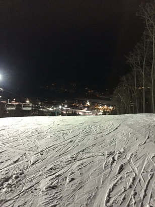 Holiday Valley - Pretty good conditions last night. Hard packed w/ the occasional slick spot.  - © shredder