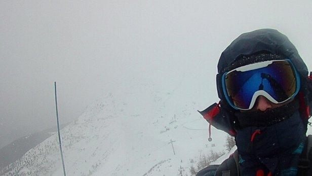Les 7 Laux - neige lourde en altitude qui colle. du vent et de la pluie aujourd'hui. faible visibilité en altitude.  - © pierregillesfrostin