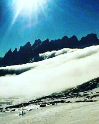 San Pellegrino - Falcade - neve artificiale piste tenute molto bene anche quella di rientro a falcade : Bravissimi !!!! - © asusstrozzi1