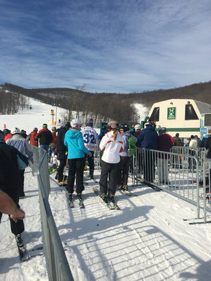 Whitetail Resort - Crazy packed, but still great snow.  - © Sam,s iPhone