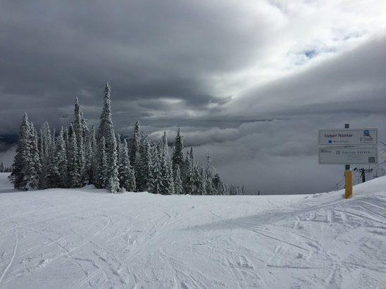 Mt. Spokane Ski and Snowboard Park - Intermittent clouds and lots of clear sailing!  Snow was great on Sunday afternoon - © iPhone