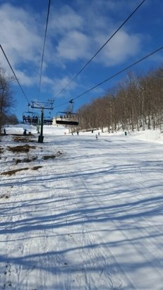 Wintergreen Resort - warm but surprisingly rideable. not many people so far - © creamer