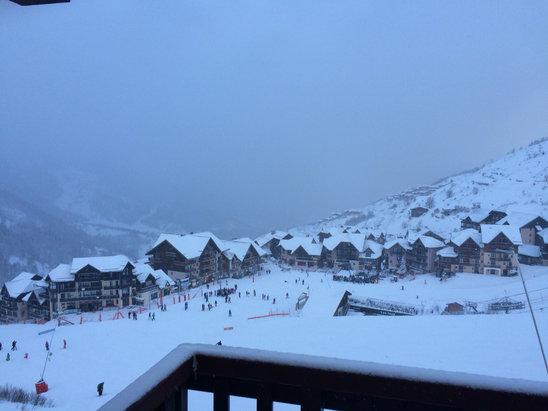 Valmeinier - Il neige depuis ce matin... Conditions difficiles mais neige au top ...  - © iPhone de olivier