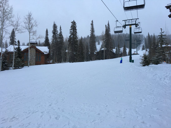 Deer Valley Resort - In case anyone wants to see the white stuff falling from the sky lol - ©Random iPhone