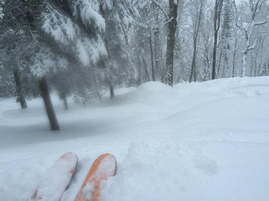 Mont Sainte Anne - It snowed all day Saturday! Finally some POW! - © Gearnut