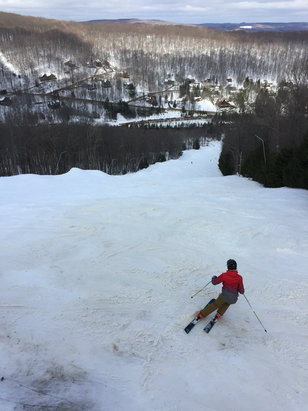 Holiday Valley - Great day. Conditions were fast and not a lot of people  - © Jays iphone