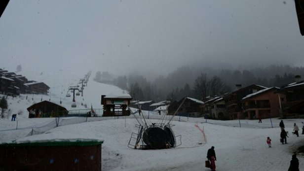 Valmorel - Raining until mid afternoon.....snowing lots now. - © UK Gary