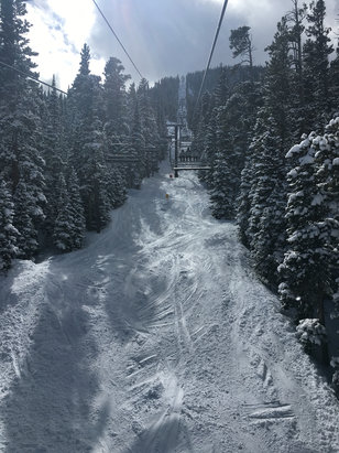Eldora Mountain Resort - Powder and blue sky at Eldora today - © Jasper's iPhone