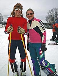 Wear your oldest and finest ski clothing! - © Nancy Story