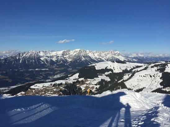 Scheffau - SkiWelt - Good conditions today!  - © marc's iPhone 5