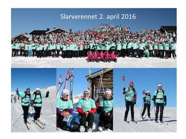 2500 girls on crosscountry ski - © Vinterens flotteste skitur for 2500 GIRLS ONLY!