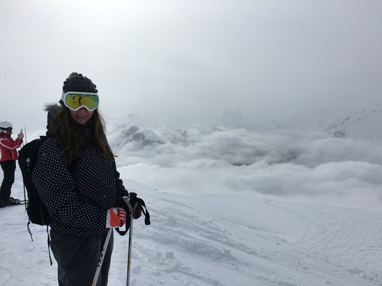Meribel - Pretty much a white out but plenty of snow! - © Graham