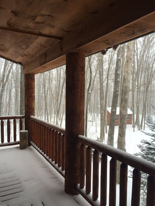 """Wisp - 5"""" fresh snow this morning. Temp in 20's. Nice skiing conditions and weather.  - © LLB iPhone 6"""