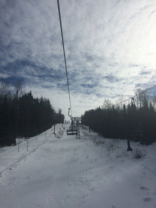 Ski Brule - What a great day to call in sick to work. Perfect conditions. 