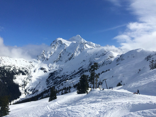 Mt. Baker - Sat Feb 27th. Bluebird!.......for about an hour.  - © Brett's iPhone
