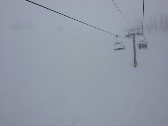 Wolf Creek Ski Area - Still snowing. Has to be at least 6-8 inches of powder and counting.