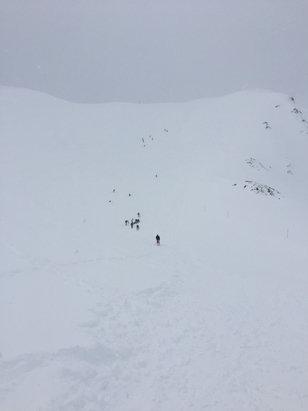 Grand Tourmalet (La Mongie / Barèges) - Aujourd'hui très bouché. Par contre neige au top.  Remontés mécaniques du haut fermées  - © Iphone 6