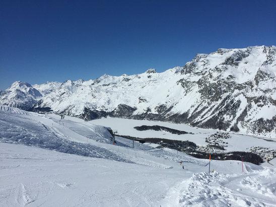 Corvatsch - Sils - Silvaplana - Giornata fantastica. Ottima neve, piste splendide.  - © iPhone di Giuseppe