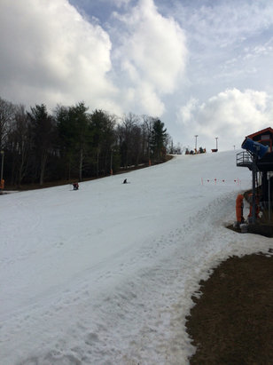 Appalachian Ski Mountain - Pretty good spring conditions and no crowds! - © iPhone