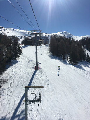 Risoul - Can life get any better?!! A bluebird day in Risoul.  - © Matt's iPhone