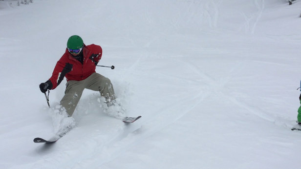 Mt. Bachelor - Snow is deep, trees amazing.  Visibility very poor but with all that snow who cares!! - © ski freak