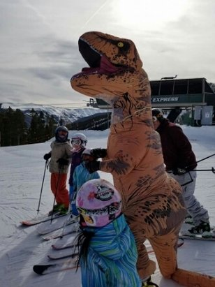 Winter Park Resort - saw a skiing t Rex yesterday on winter park side. - ©anonymous user