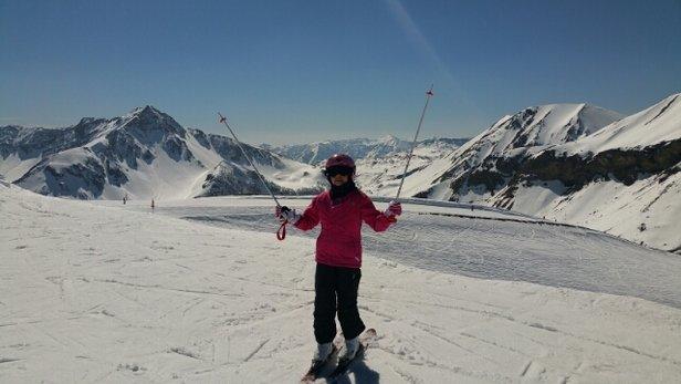 Auron - Bonne neige dans l' ensemble mais la neige en bas était complètement fondu. Certaines pistes n' était pas bien damés c'est dommage. - © steph.rallon