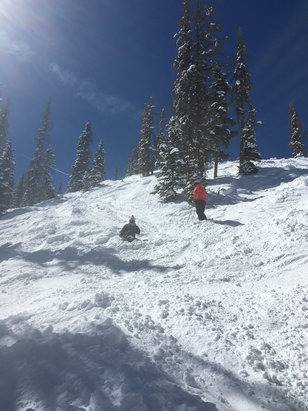 Wolf Creek Ski Area - Sunday March 27th, Snow is great! More snow is coming - © Logan's iPhone