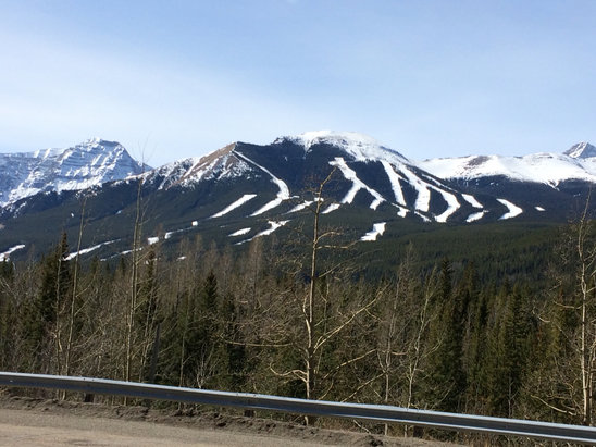 Nakiska Ski Area - Tuesday - Great spring skiing. I'm surprised how good the coverage is considering the lack of snow and warm temperatures this year.  - ©REB
