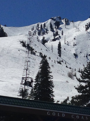 Soda Springs - Squaw valley: outstanding spring skiing today and yesterday.  Gets a bit wet and sticky late in the day but great coverage!  Get it while it is still going on.  Call in sick and get up here. - © Chris's iPhone