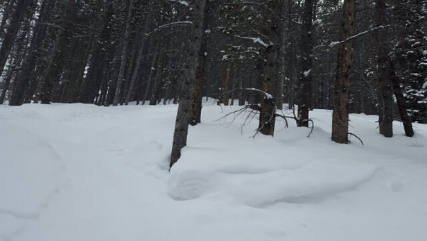 Breckenridge - Thin cover?  Must be an employee from another mountain.  Breck has WEEKS left and that is just because of forest service permit.  PLENTY OF COVER.  Not sure where that pic is from, but its not Breckenridge.  Still powder for those who venture.  Conditions are soft and sweet. - ©J