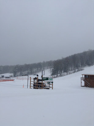 "Ski Brule - 5"" of fresh powder, going to be a fun day of skiing! - © Ski Brule"