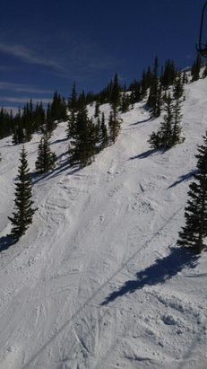 Winter Park Resort - pow still avail skiers right on eagle wind. great conditions! - ©thom.butler