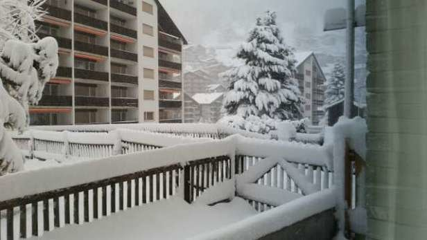 Zermatt - Gotta love zermatt. It snows 15 inches overnight and continues to dump, but they close down the slopes to groom them.  - © ken